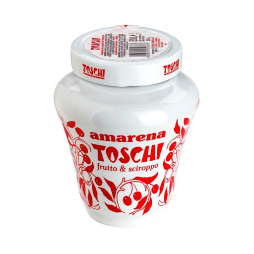 Amarena Toschi Italian Black Cherries in Syrup, 17.9 Oz.