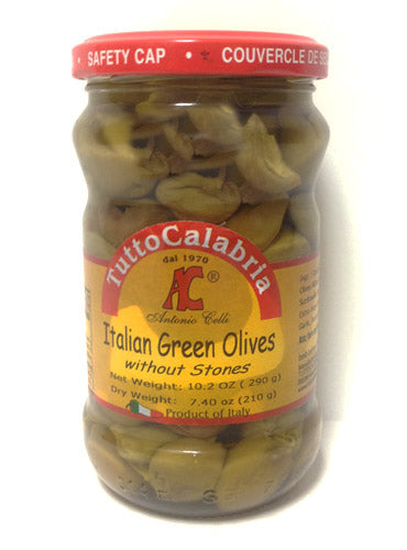 Tutto Calabria Pitted Italian Green Olives 10.2 oz