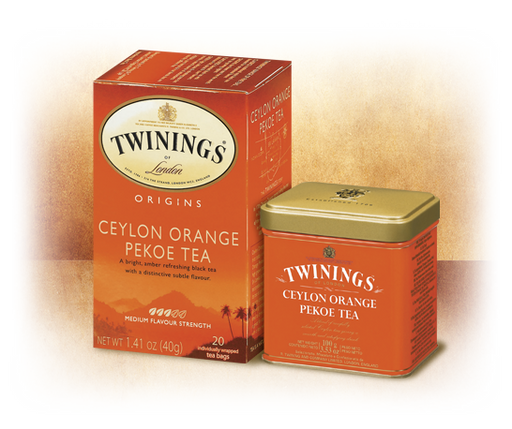 Twinings Ceylon Orange Pekoa, 20 Tea Bags, 40g