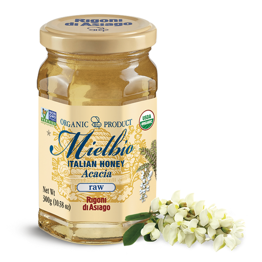 Rigoni di Asiago Mielbio Italian Honey Acacia (raw), 10.58 oz