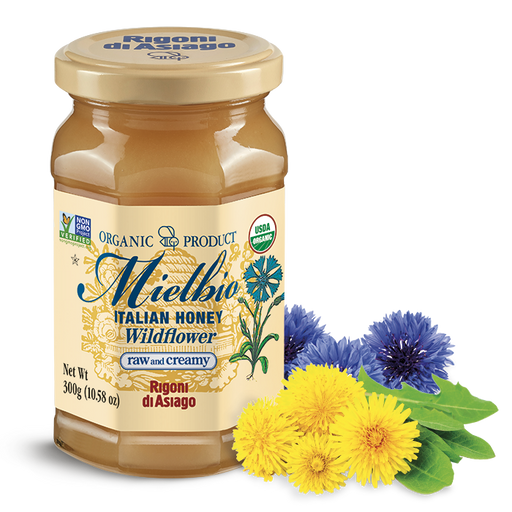 Rigoni di Asiago Italian Honey Wildflower Creamy, 10.58 oz