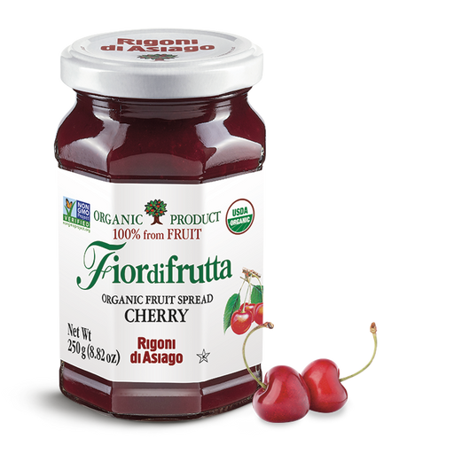Rigoni di Asiago Organic Cherry Fruit Spread, 8.82 oz | 250g