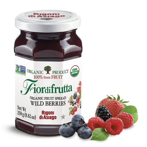 Rigoni di Asiago Organic Wild Berries Fruit Spread, 8.82oz | 250g