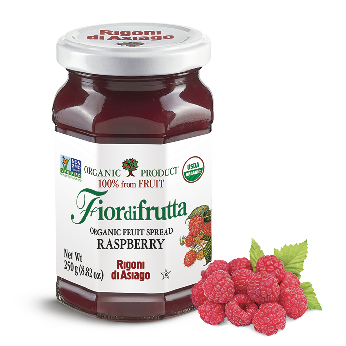 Rigoni di Asiago Organic Raspberry Fruit Spread, 8.82 oz | 250g