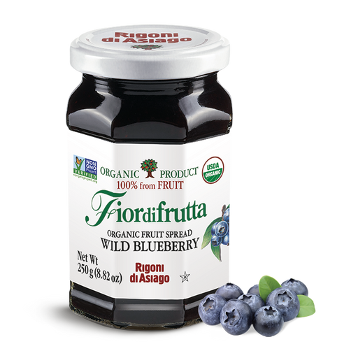 Rigoni di Asiago Organic Wild Blueberry Fruit Spread, 8.82oz | 250g
