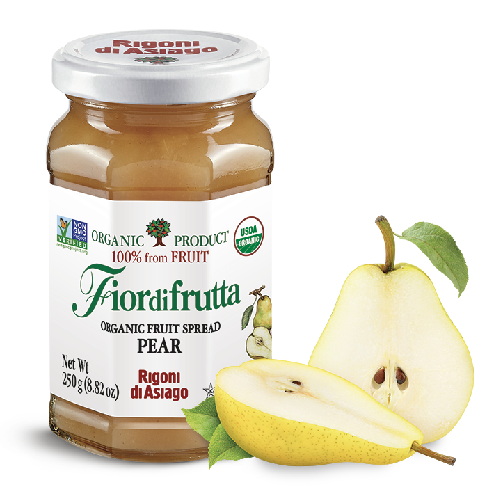 Rigoni di Asiago Organic Pear Fruit Spread, 8.82 oz | 250g