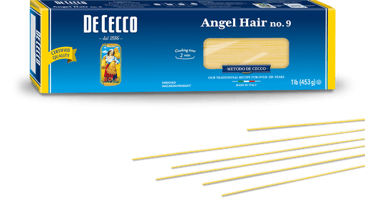 De Cecco Angel Hair, Capellini, #9, 1 LB | 453g