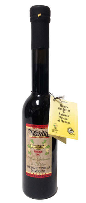 Vantia Vintage Oro Balsamic Vinegar of Modena 8.5 FL. OZ. Glass
