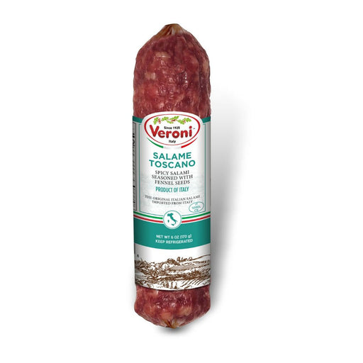 Veroni Salame Toscano, Spicy Salami W/ Fennel, Made In Italy, 6 oz | 170 g
