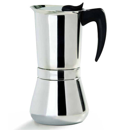 Vev Vigano Vespress Black Handle, 4 Cup