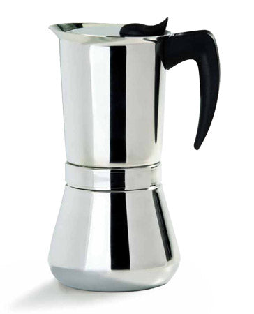 Vev Vigano Vespress Black Handle, 6 Cups
