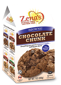 Zena's Gluten Free Brownie Chocolate Chunk, 200g
