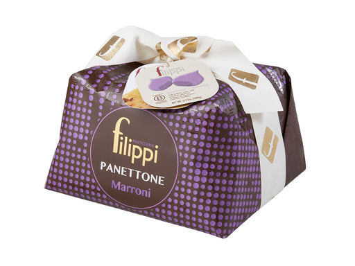 Filippi Panettone With Chestnuts, Marron Glace, 35.27 oz | 1kg