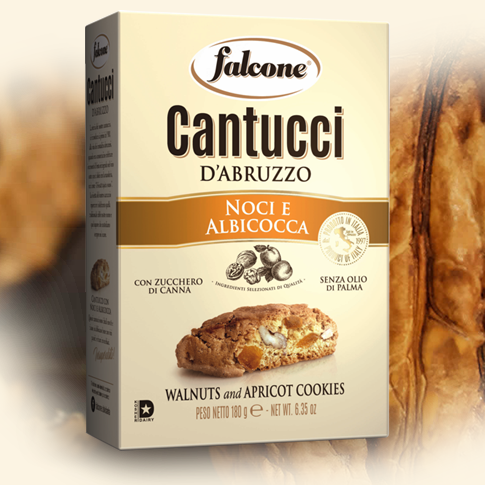 Falcone Cantuccini Walnuts and Apricot, 6.35 oz | 180 g
