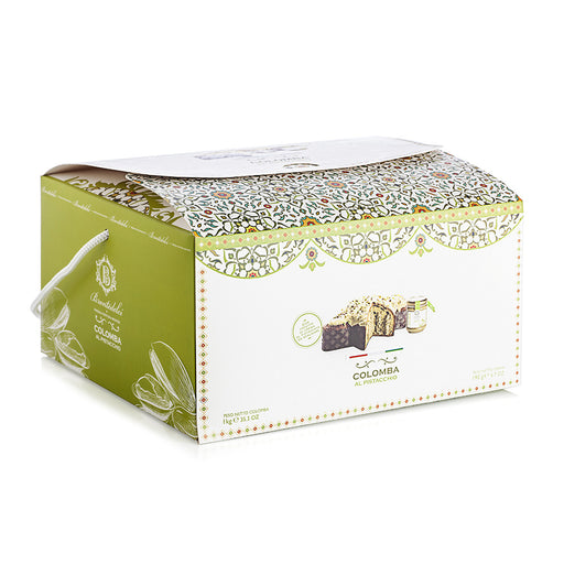 Brontedolci Colomba with a Jar of Pistachio Cream, 35.3 oz | 1 kg