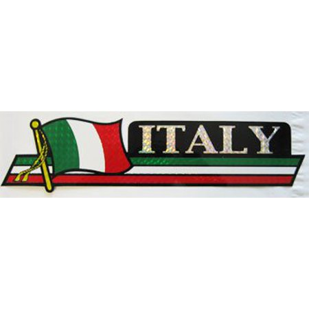 "Italia Long Bumper Sticker, 2.5"" x 12"""