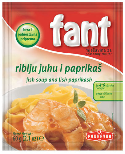 Fant Fish Soup and Fish Paprikash (riblju juhu i paprikas) 60g