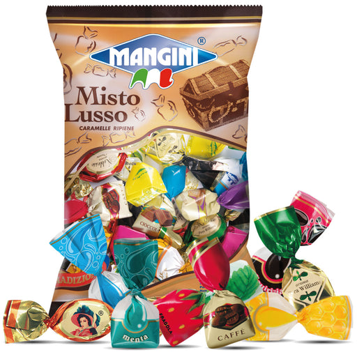 Mangini Misto Lusso Assorted Filled Caramel Candies, 5.25 oz | 150g