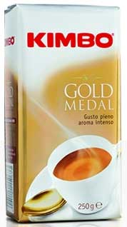 Kimbo Gold Medal Ground Coffee in Bag, 8.8oz/250g