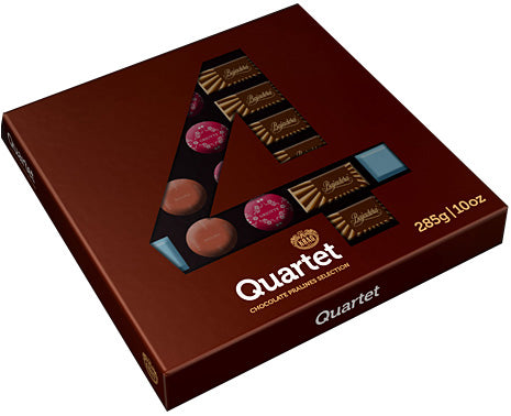 Kras Quartet Chocolate Pralines Selection, 285g