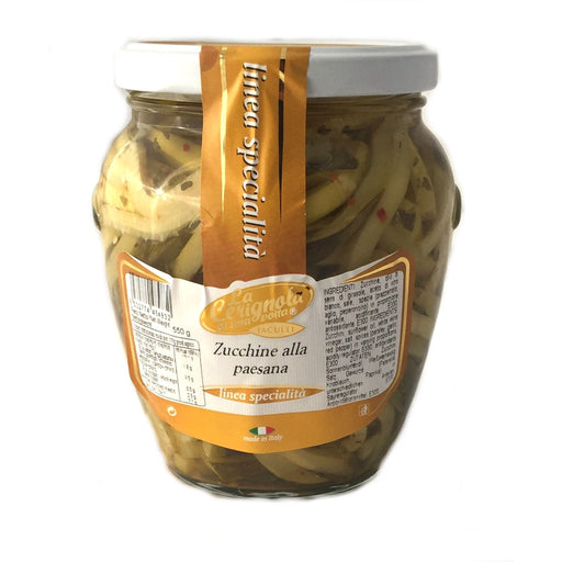 La Cerignola di una volta - Zucchini Seasoned Sliced, 19.40 oz | 580g