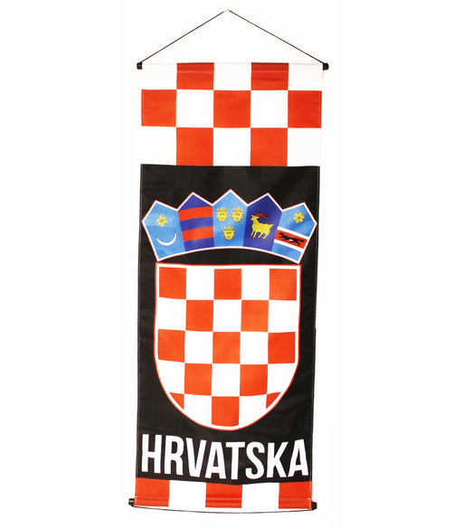 "Croatia Large Banner, 20""x45"""