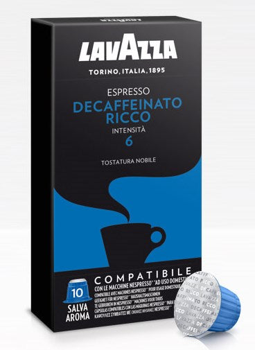 LavAzza Nespresso Compatible Espresso Rich Decaffeinated 6, 10pk
