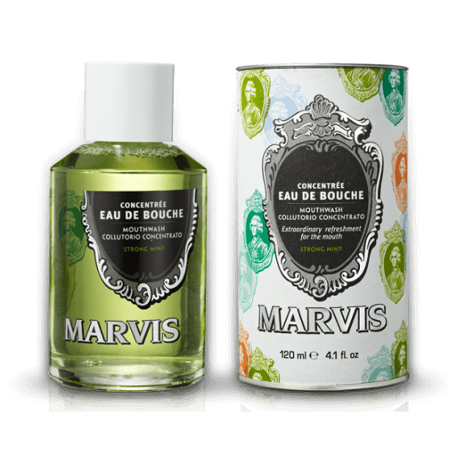 Marvis Strong Mint Mouthwash Concentrate, 4.1 oz | 120 ml
