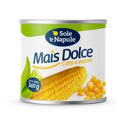O Sole E Napule Golden Sweet Corn, 11.9 oz | 340g
