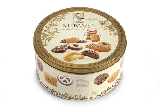 Vicenzi Minivoglie Assorted Cookies in Tin, 17.64 oz