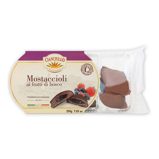 Cianciullo Mostaccioli Filled with Wildberry, 7 oz | 200g