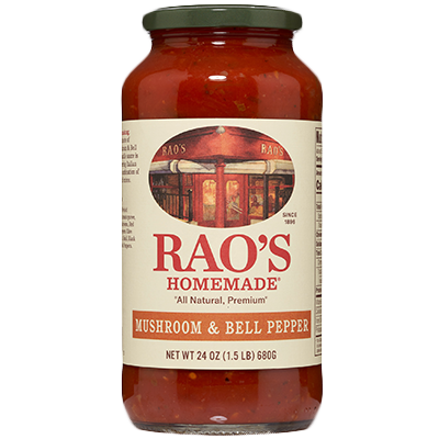 Rao's Mushroom and Bell Pepper Sauce, 24 oz Jar
