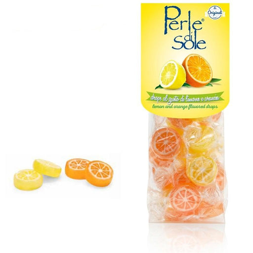 Perle di Sole Lemon & Orange Slice Hard Candy, 3.52 oz.