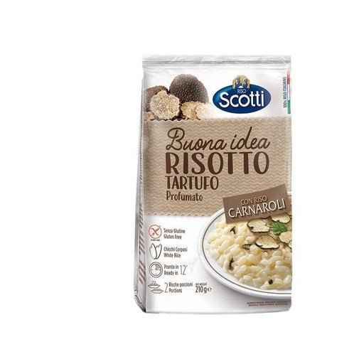 Scotti Risotto With Truffle Mushrooms with Carnaroli Rice, Ready in 12 min, 7.4 oz | 210g