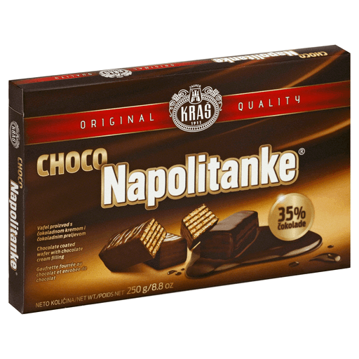 Kras Napolitanke Chocolate Coated Wafers Box 250g