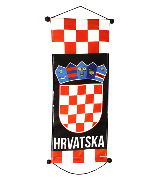 "Croatia Small Banner, 8""x18"""