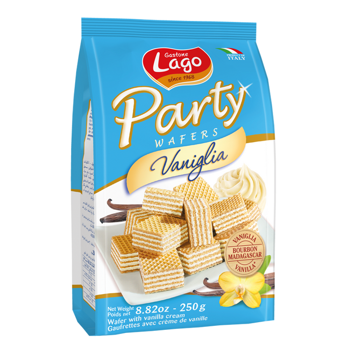 Lago Party Wafers Vaniglia, 8.82 oz | 250g