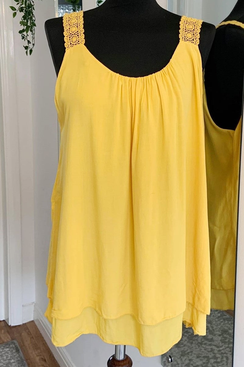 ESME Plain Top - Mustard