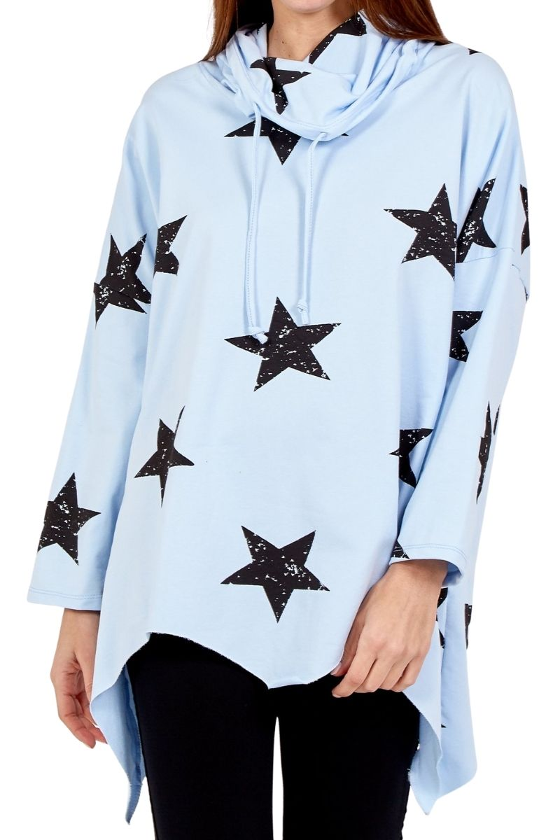 LYDIA Star Top - Blue