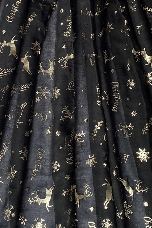Black Christmas Scarf - F123
