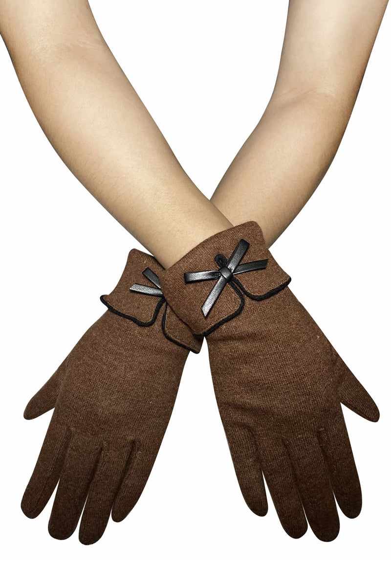 Brown Bow Gloves - FW03