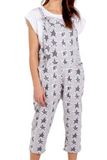 PEGGY-SUE Star Dungarees - Grey