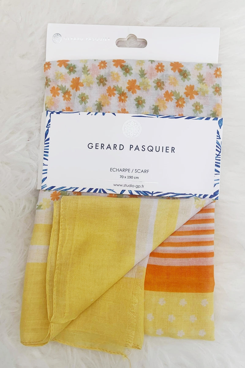 Yellow Floral Scarf - IW012