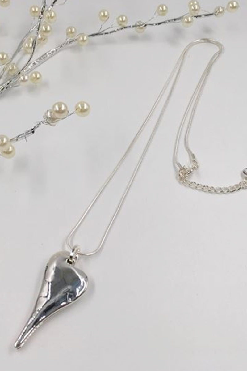 Silver Heart Necklace - R105