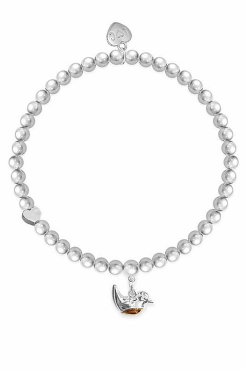 'Robins Appear When Loved Ones Are Near' Silver Bracelet - LC04
