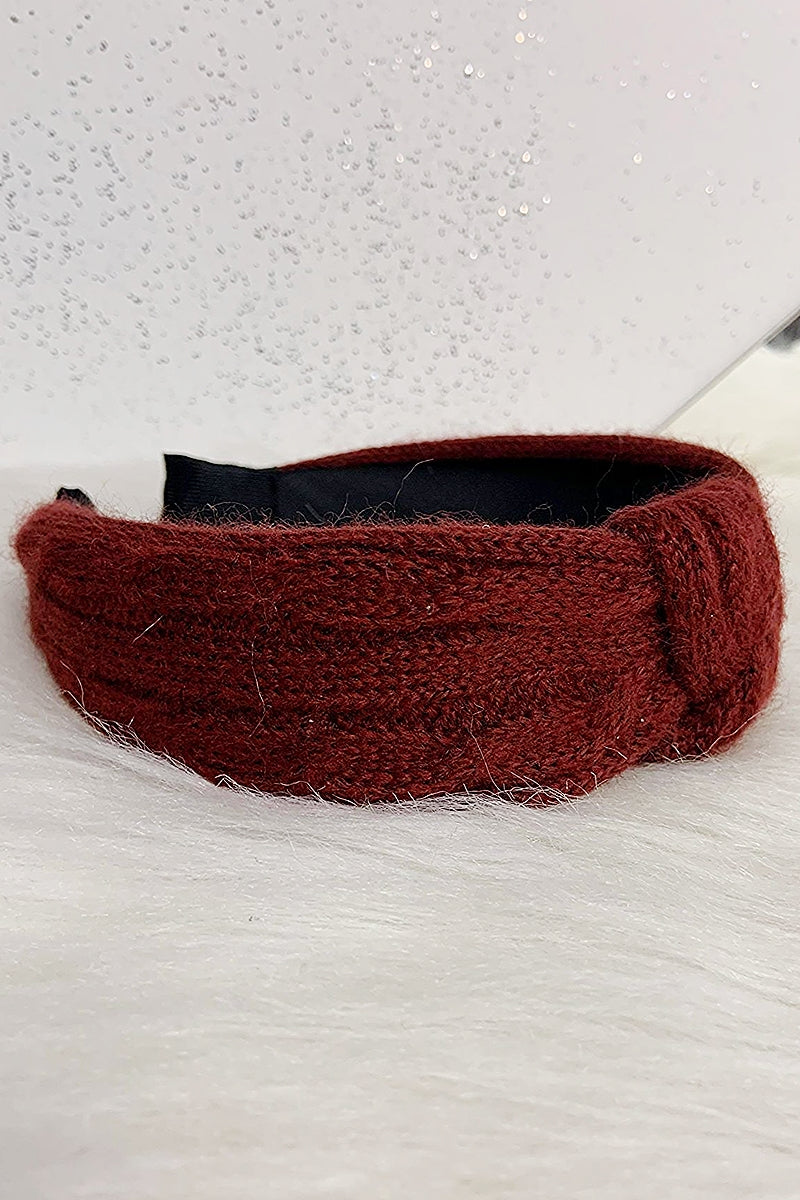 Wine Cable Knit Headband - P114
