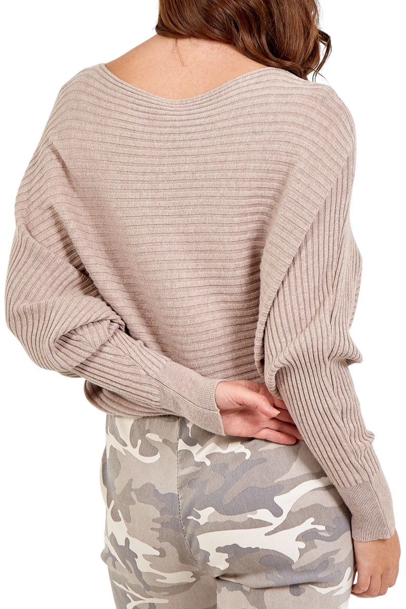 INGRID Ribbed Jumper - Beige
