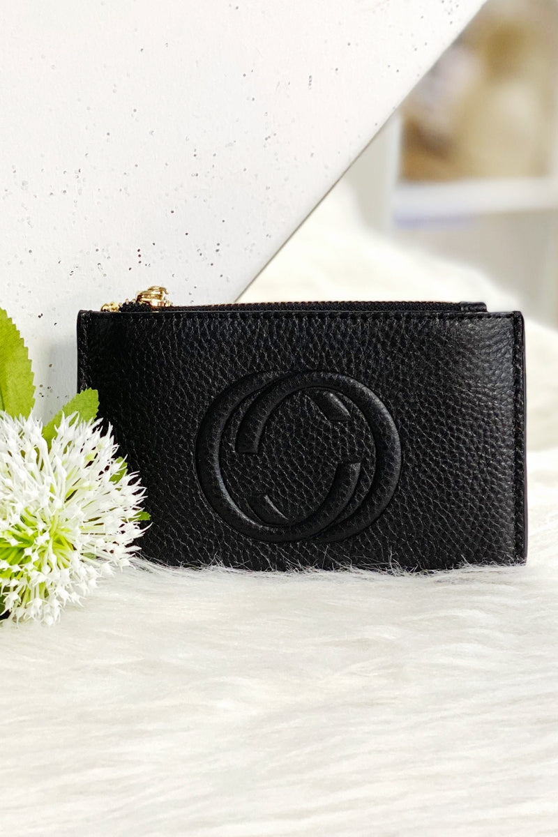 CHLOE Leather Coin Purse - Black