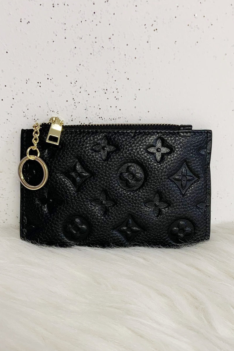 LUNA Leather Coin Purse - Black