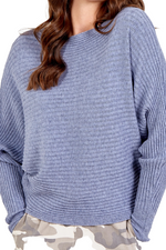 INGRID Ribbed Jumper - Blue